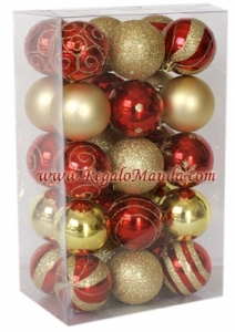 50 pack shatterproof christmas ornaments
