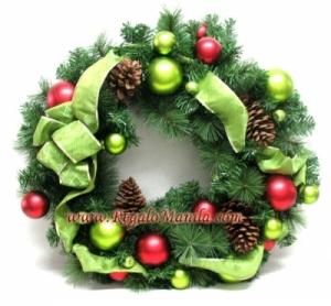 24 in decorative pine wreath