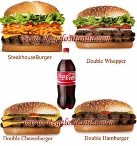 Send Burger King Food Philippines, buy Burger King Food