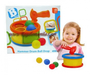 Blue Box Hammer Drum Ball Drop Baby Girl Toys Philippines