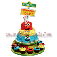 red ribbon cartoon character cakes