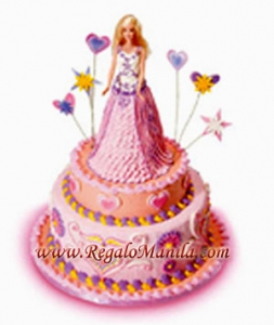 Debut Cake Designs Red Ribbon : Red ribbonbakeshop philippines, Red Ribbon birthday Barbie ...