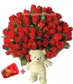 Roses Bouquet With Teddy bear