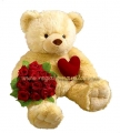 Giant Teddy with Rose (Best Seller)