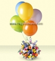 Flowers and Balloons Bouquet