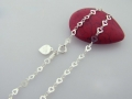 Sterling Heart-chain Anklet