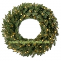 "18 "" Douglas Fir Wreath, 50 Clear Lamps"
