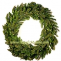 Pre-lit Fraser Fir Wreath, 50 Clear Lamps