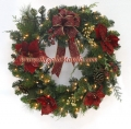 20-inches 100-Light Poinsettia Wreath