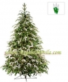 5' Full Fraser Fir Tree, Flocked, 200 Clear Lamps