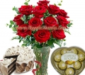 Rose in Vase Combo Pack