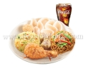 Chinese Style Fried Chicken Lauriat with Drink