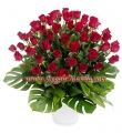 5 Dozen Red rose In Basket