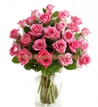 2 Dozen Long Stem Pink Roses