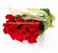 2 Dozen Long Stem Red Rose Bouquet
