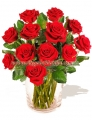 Cupid's Dozen Red Roses