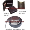 3-pc Combo Set  (Belt, Wallet, & Keychain Holder)