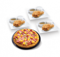 Pizza & Chicken Trio