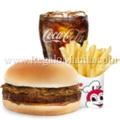 Value Meal: Yum Burger w Adobo Flakes + French Fries + Choice of Drink