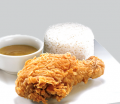 Crunchy Chicken with Rice
