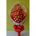 3 mini bears and  24pc Madly In-love Chocolate Bouquet