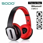 Sodo MH2 Bluetooth 2 IN 1 Headphone with Flip-out Speaker