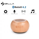 Zilla TWS Natural Wood Mini Pairable Wireless Speaker - Brown