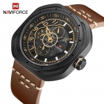 Naviforce 9141 Military Leather 3Bar Waterproof Watch