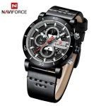 Naviforce 9131 Analog Sports Leather Quartz Watch
