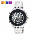 SKMEI 0993 3ATM Dual Mode Digital Analog Stainless Watch