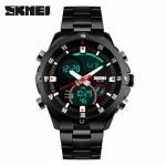 SKMEI 1146 Dual Mode Digital Analog Stainless Watch