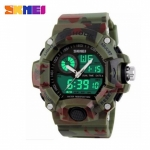 Skmei 1029 5ATM Dual Model Digital Analog Army Digital LED Watch