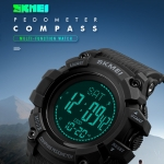 SKMEI 1356 Multifunction  50M Waterproof Outdoor Watch  - Black