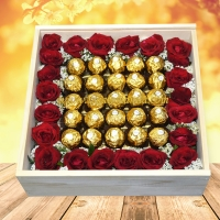 Ferrero and Red Rose Box