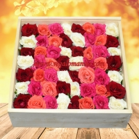 Ericka Checkered Rose Box