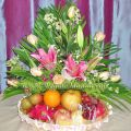 Mixed Flower & Fruits Basket